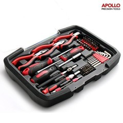 Apollo 74 Piece Electronics & Computer Toolkit (3 Piece Mini Pliers, Assorted Bits - Regular & Preicion, Screwdrivers, Hex Keys and Pick-Up-Tool)